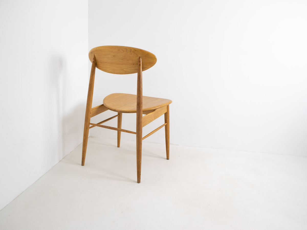 Ercol-style oak dining chair