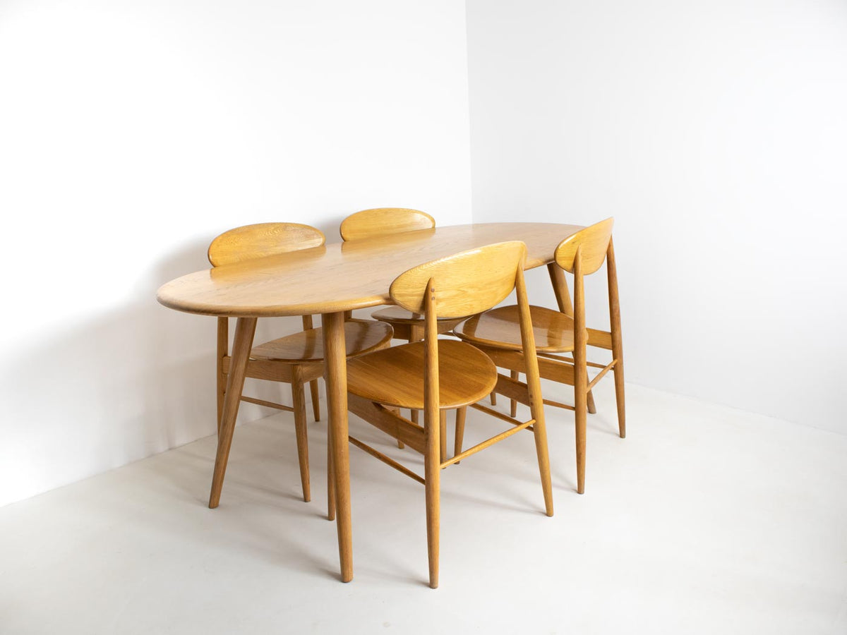 Ercol-style table and chairs