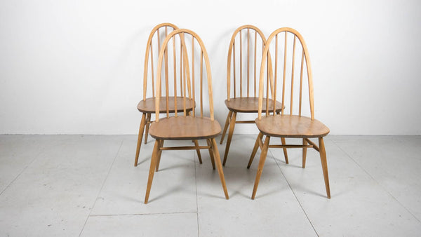 Ebtd Vintage Ercol Table And Quaker Chairs