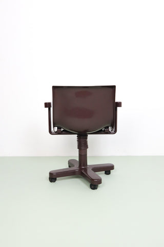 Burgundy Ettore Sottsass Synthesis desk chair
