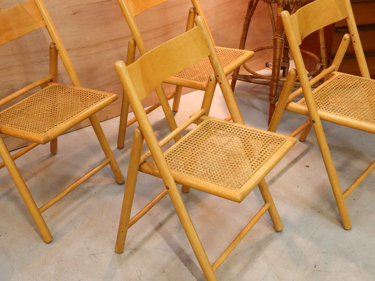 Vintage Folding Dining Chairs - Set of 4