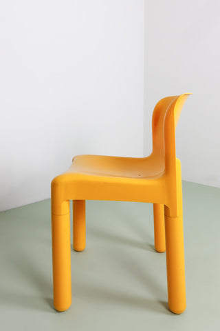 Yellow vintage Kartell chair London