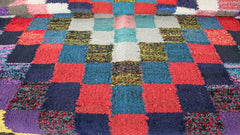 MCM rug with square pattern