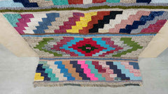 Colourful Kilim rug with geometric patten