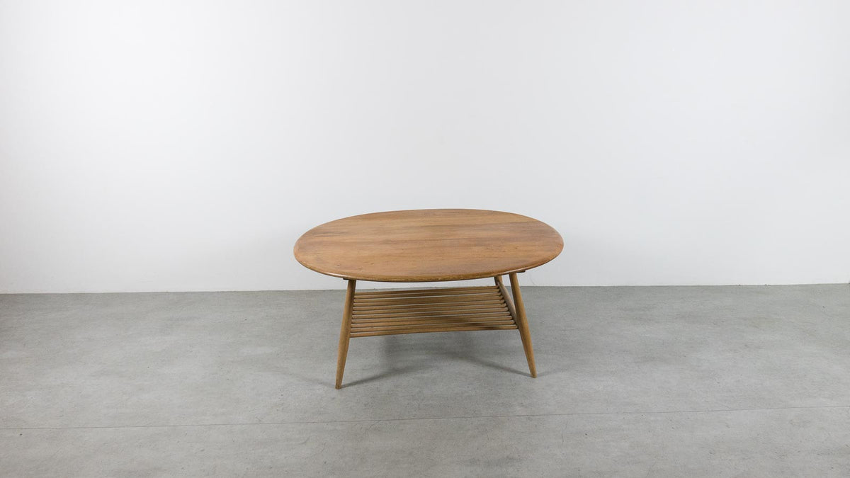 Ercol coffee table with shelf