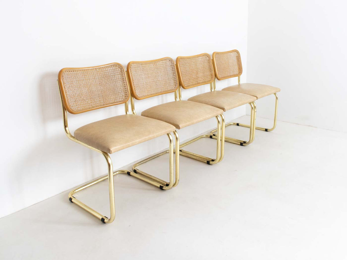 Vintage Marcel Breuer Bauhaus-Style Chairs with Glass ...