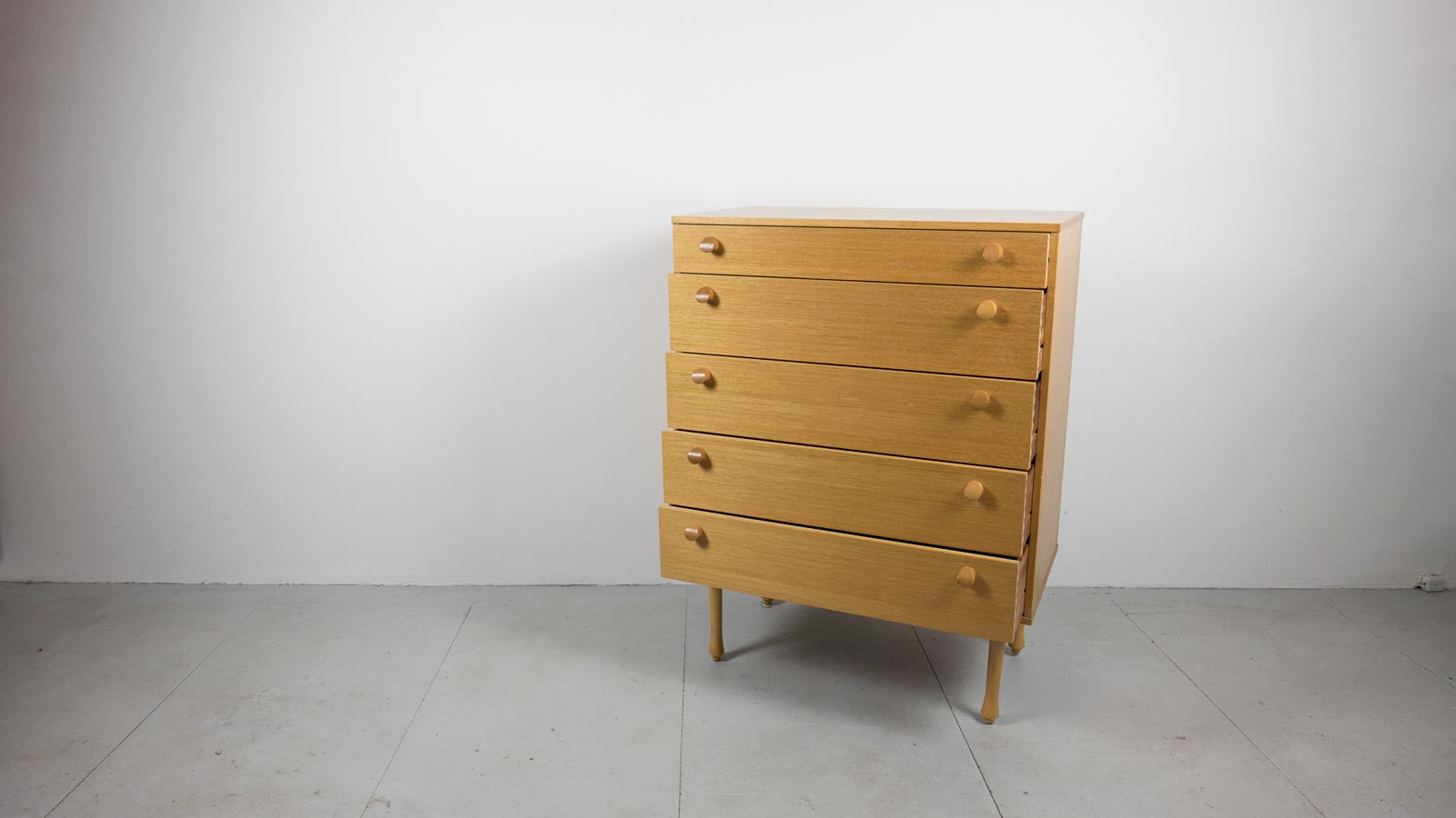 Ebtd Mid Century Modern Blonde Wood Chest Of Drawers
