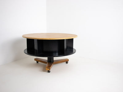 Mid century revolving coffee table