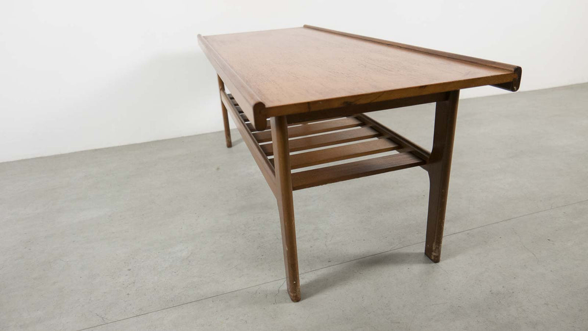 mid-century coffee table with magazine rack