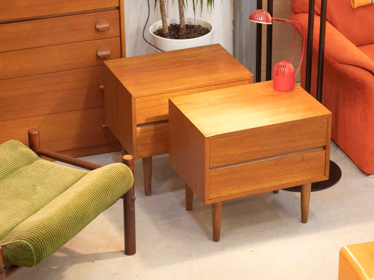 Vintage Danish modern bedside tables