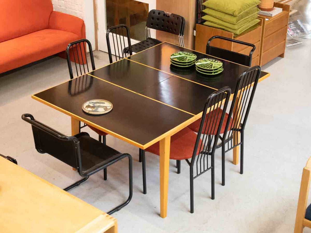 Extending mid century modern dining table
