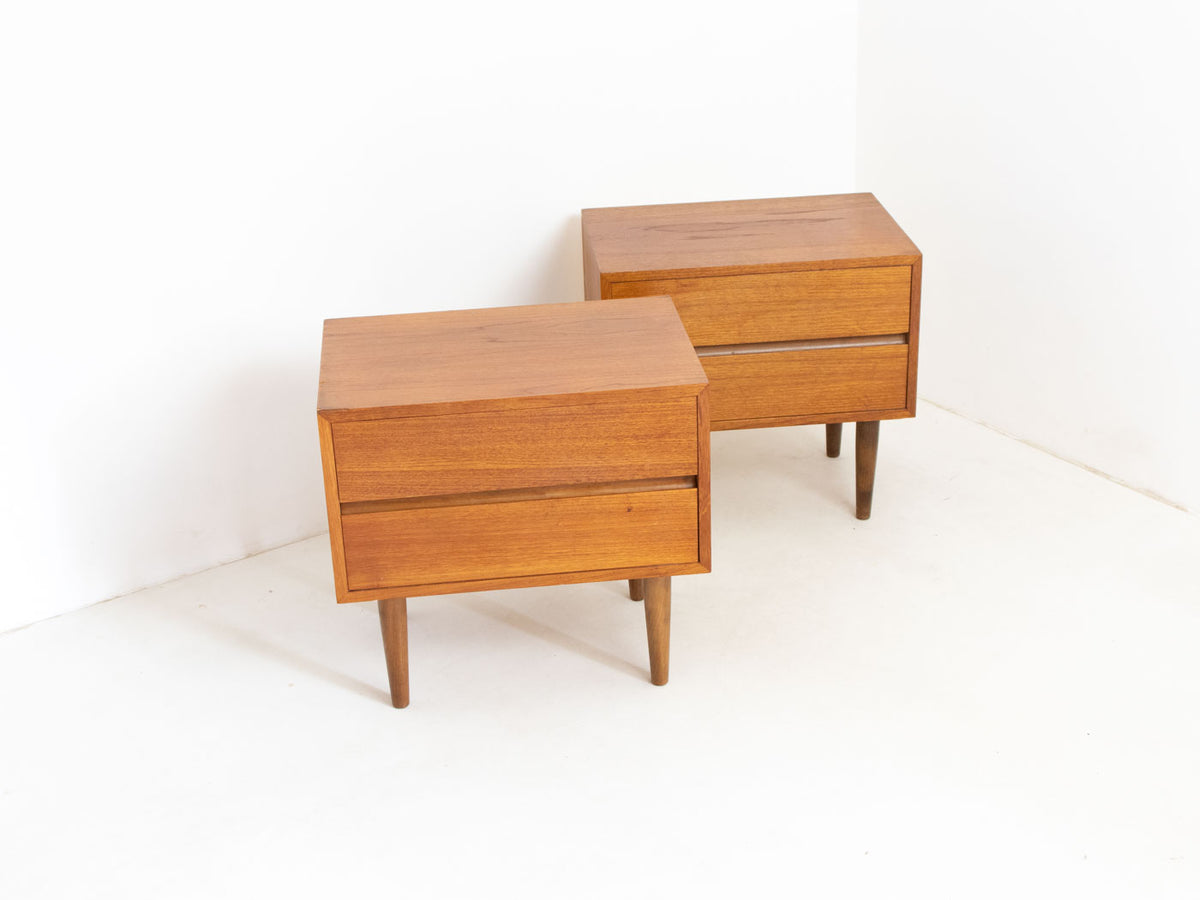 Vintage Danish bedside tables