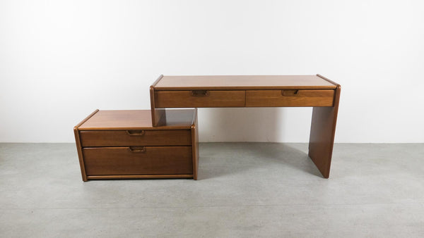 solid teak desk