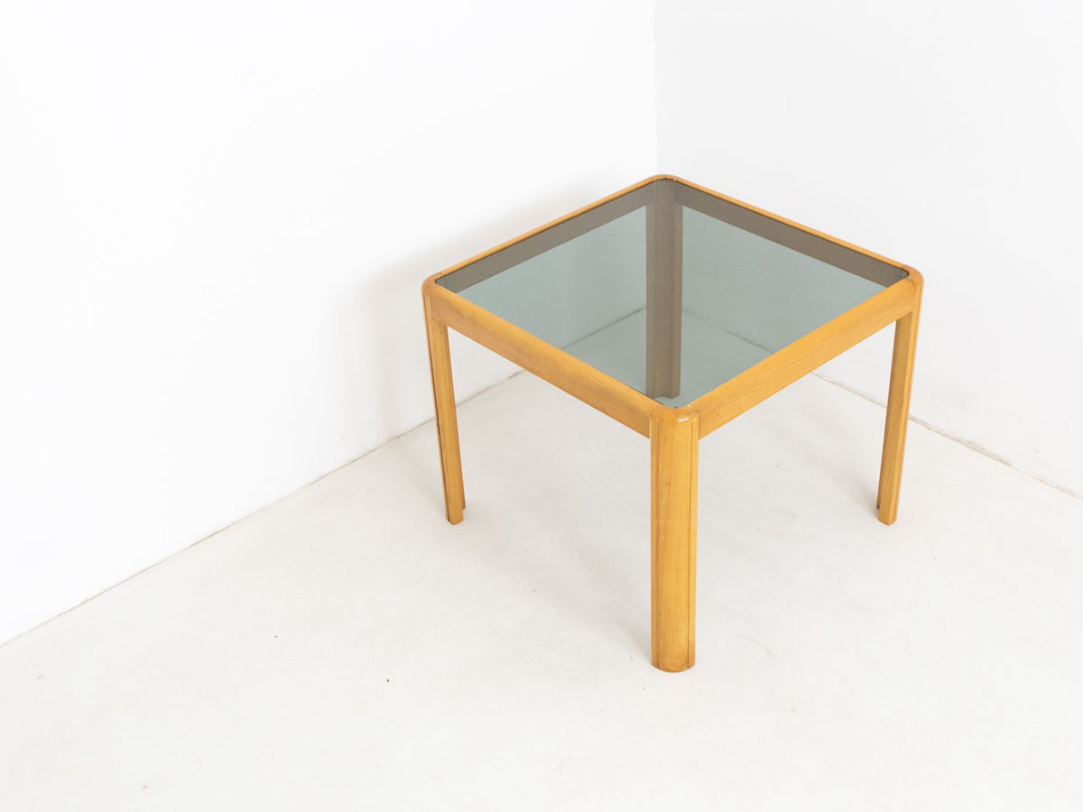 Vintage smoked glass side table
