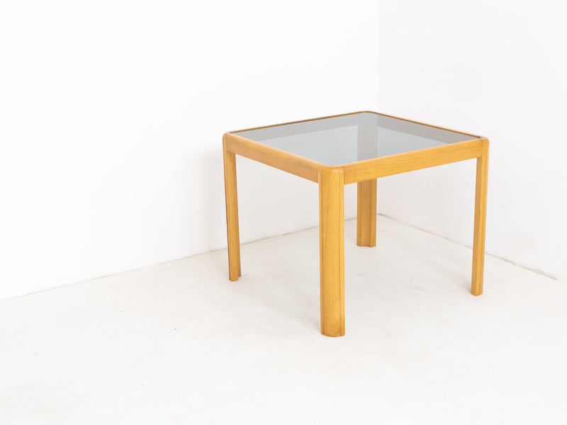 Mid century modern glass side table
