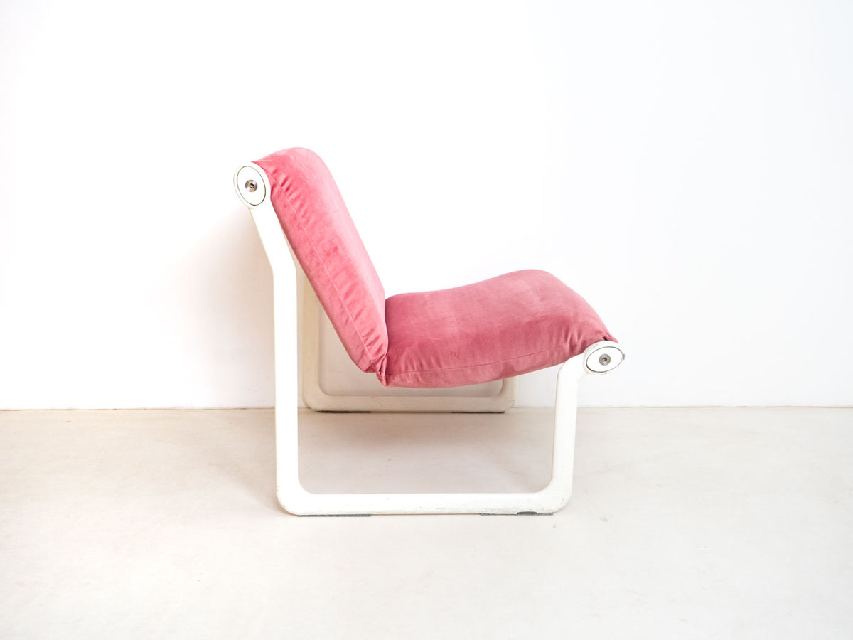 Velvet pink Knoll chair