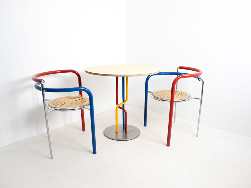 Postmodern table and chairs