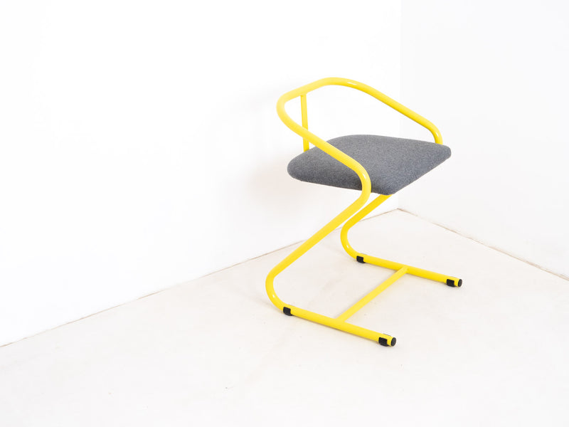 Tubular Steel Postmodern Desk Chair