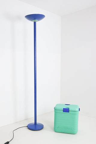 1980's Postmodern Uplighter - Blue and Mint