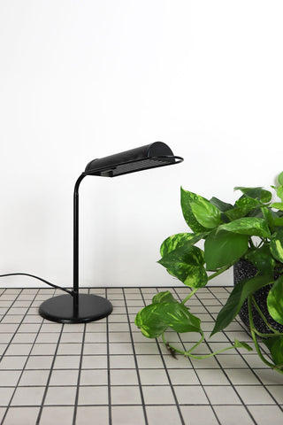 Black Metal Mesh 80's Desk Lamp