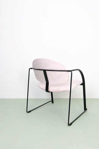 Pink and black retro office furniture
