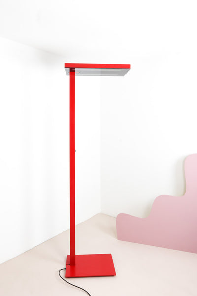 vintage red floor lamp London