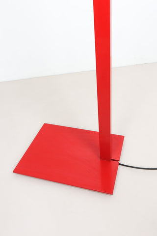 Red Luxo floor lamp