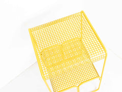 Yellow mesh side table