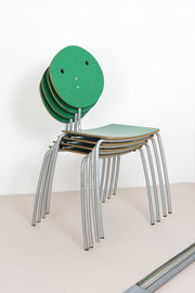 Agatha Stacking Chairs by Prada for Amat-3 Set of 4