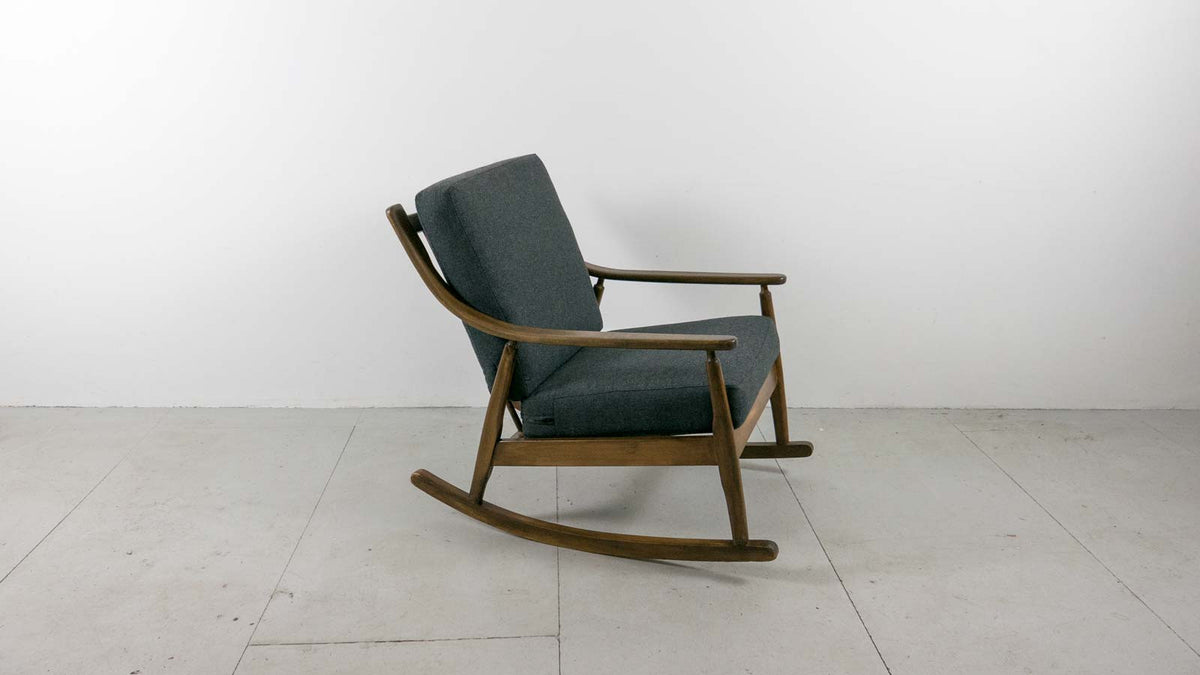 Afromosia rocking chair