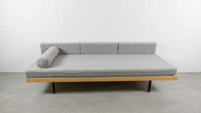 Day bed with grey fabric