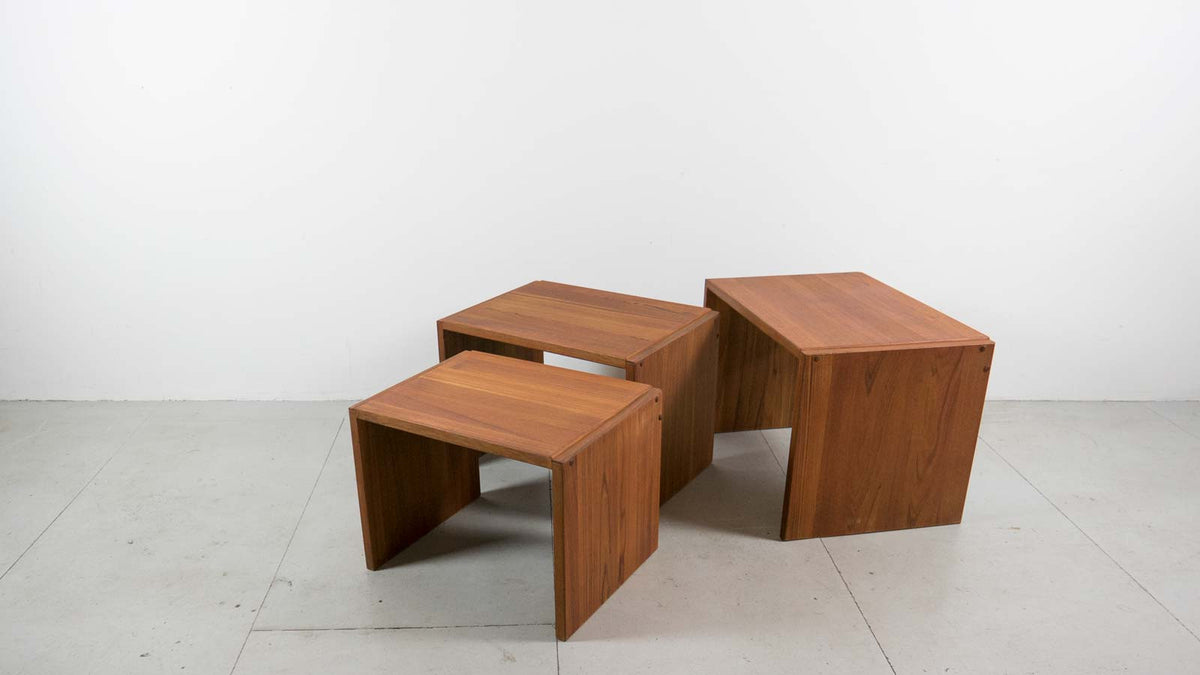 Teak nested tables