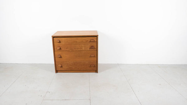 1960's teak stag chest of drawers