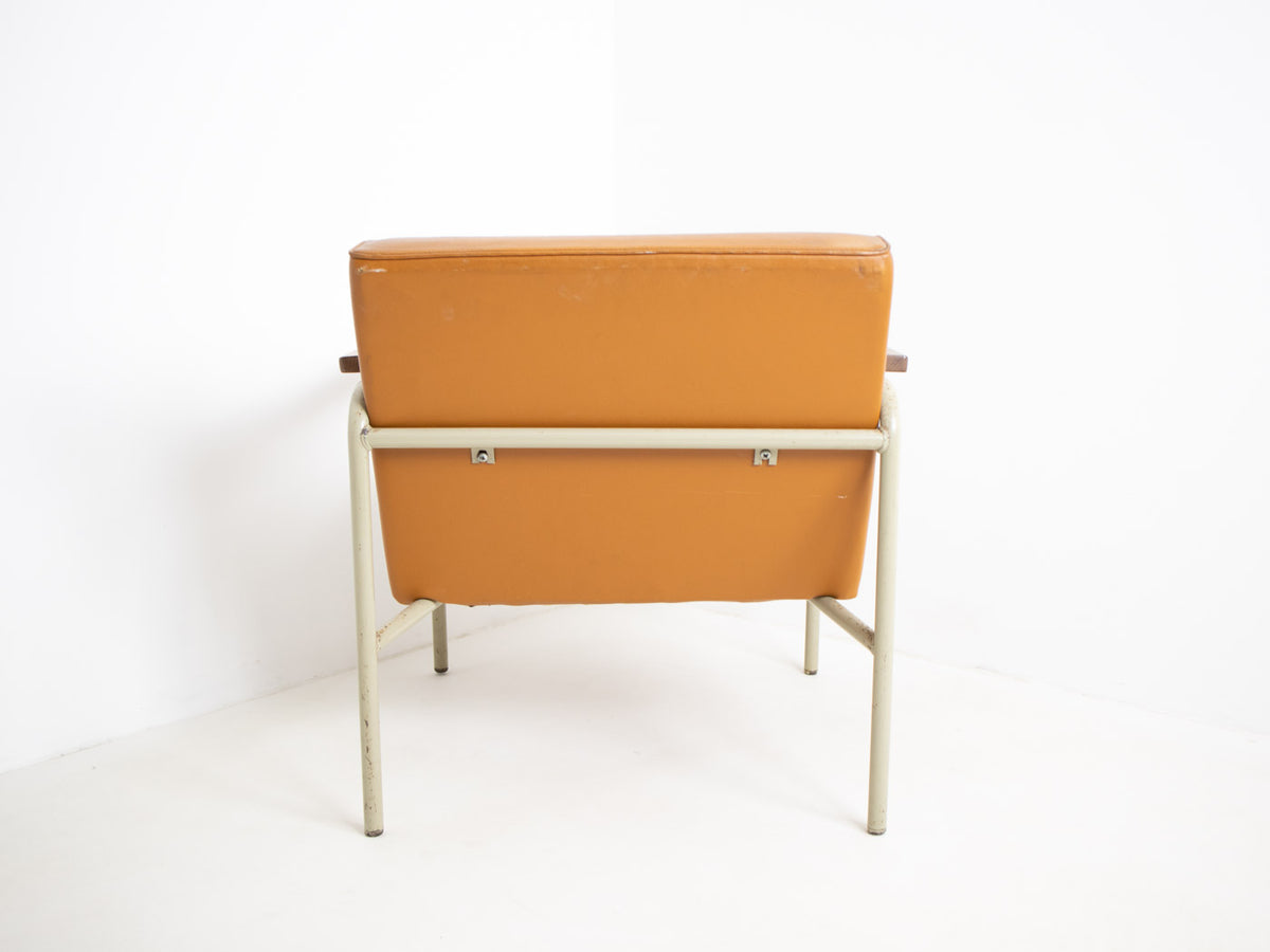 vintage tubular steel chair