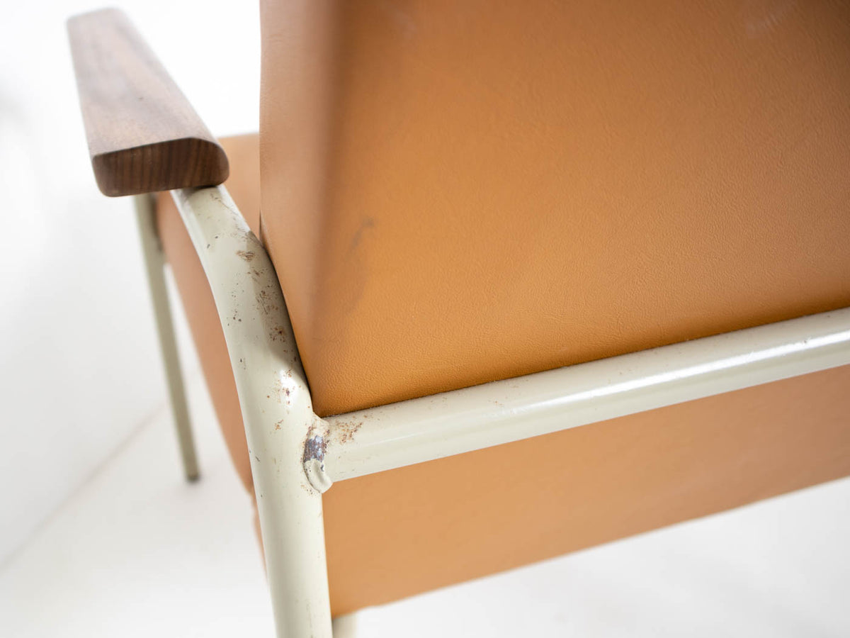 mid century modern steel chair