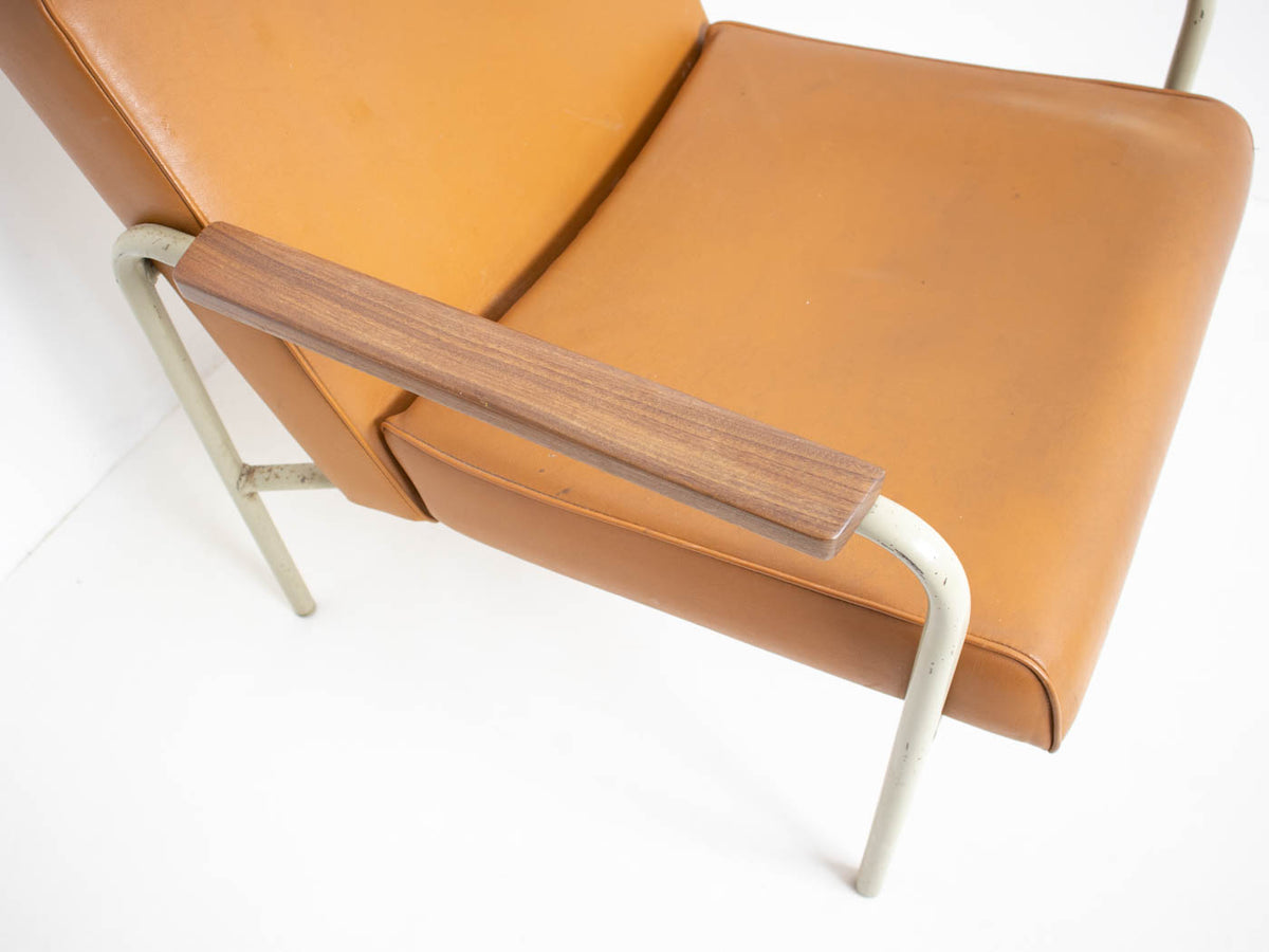 mid century modern leather armchair
