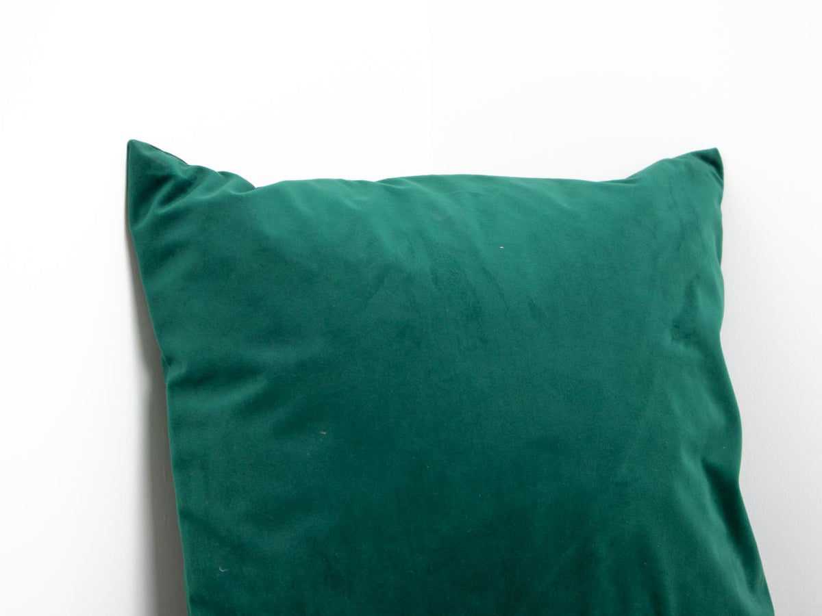 ebtd green velvet cushion