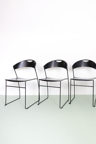 Juliette Stacking Chairs by Wettstein for Baleri Italia