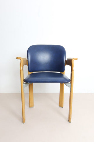 Oak armchair by Bruno Rey