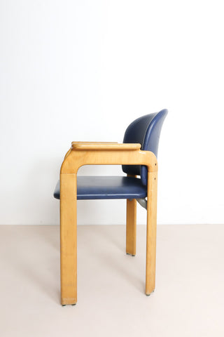 Bruno Rey armchair oak and leather