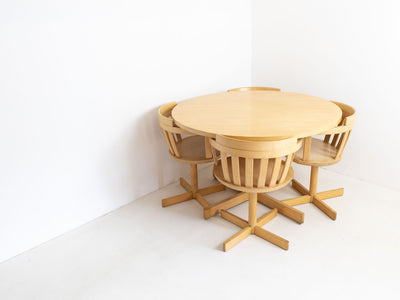 Scandinavian dining table and chairs