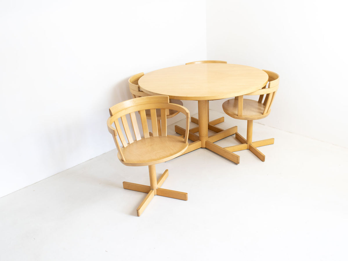 Vintage Scandinavian dining table and chairs
