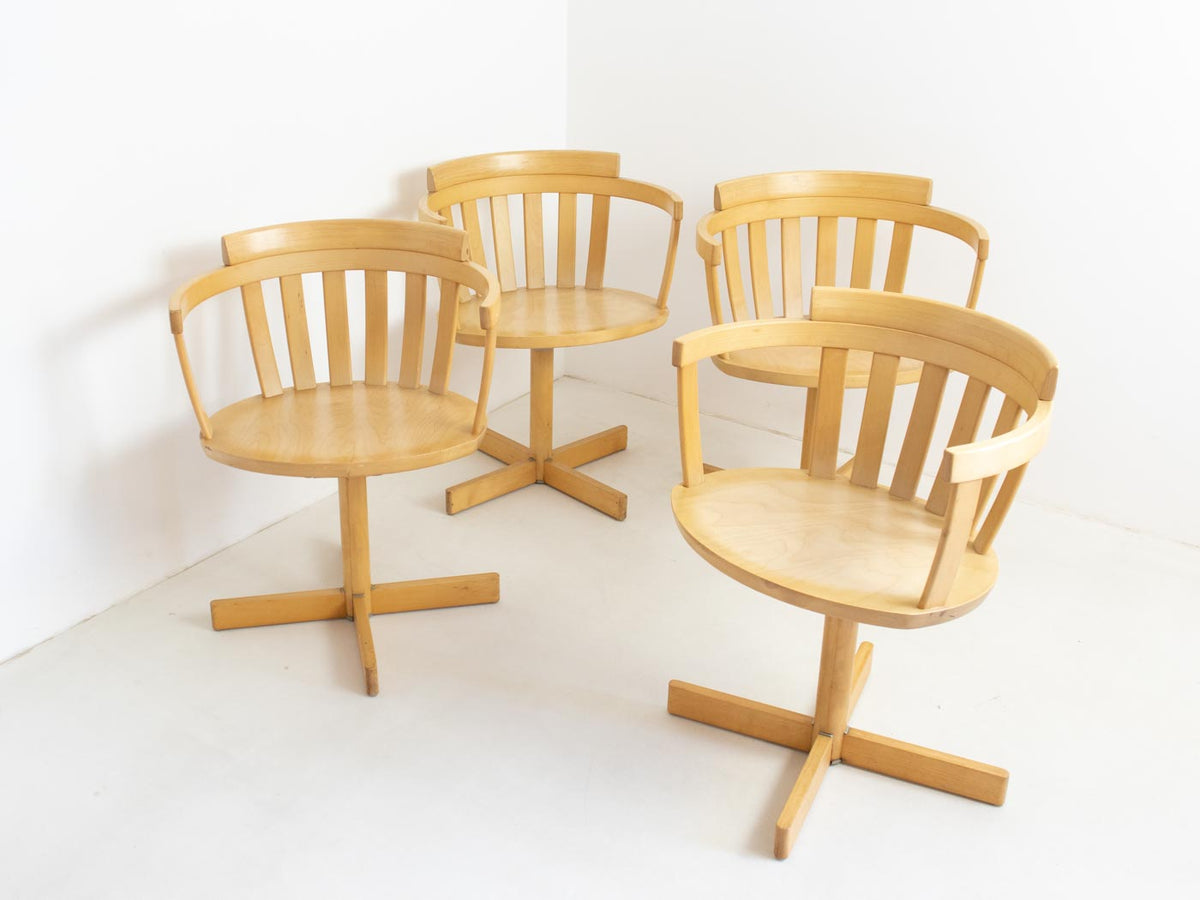 Scandinavian swivel dining chairs