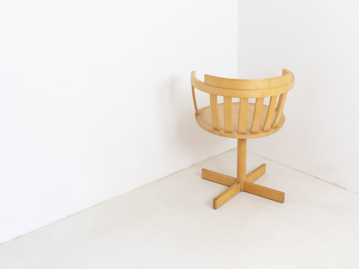 Vintage Swedish swivel dining chair