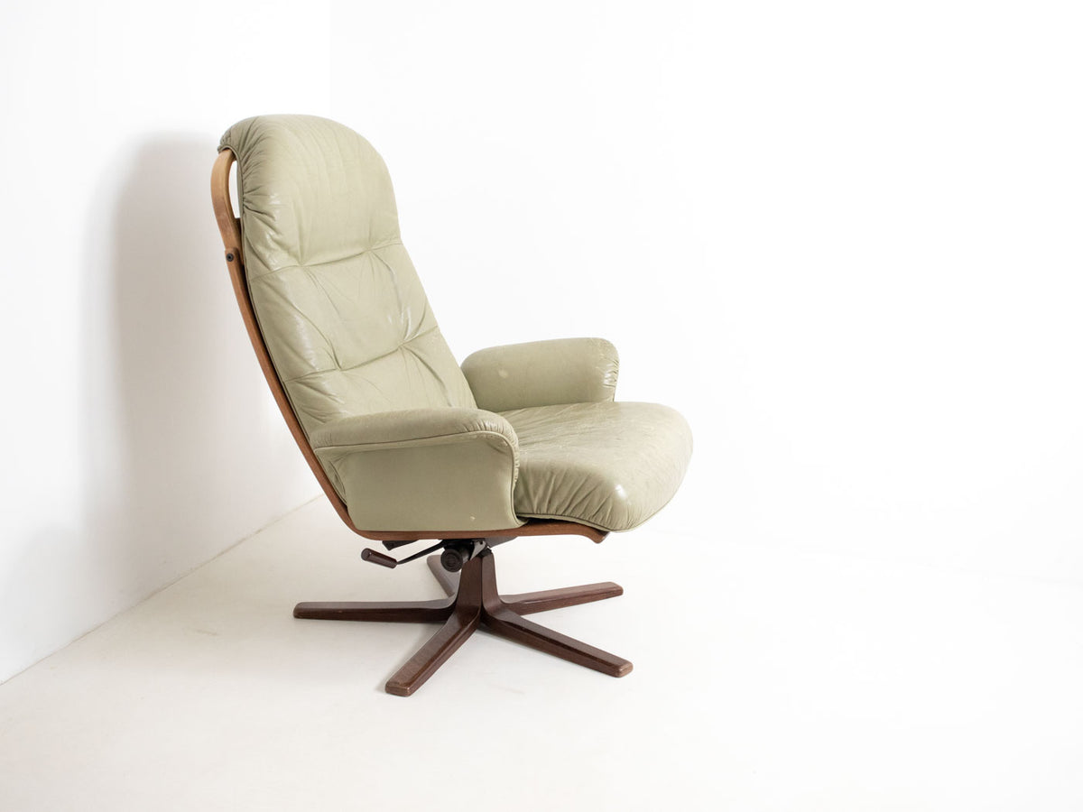 Mid century Swedish swivel chair