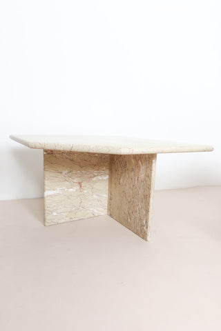 Italian cream marble tables