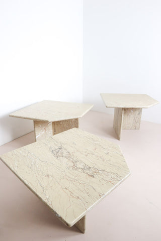 Vintage stone coffee tables