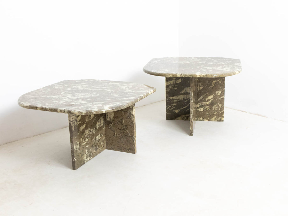 Vintage marble coffee table set