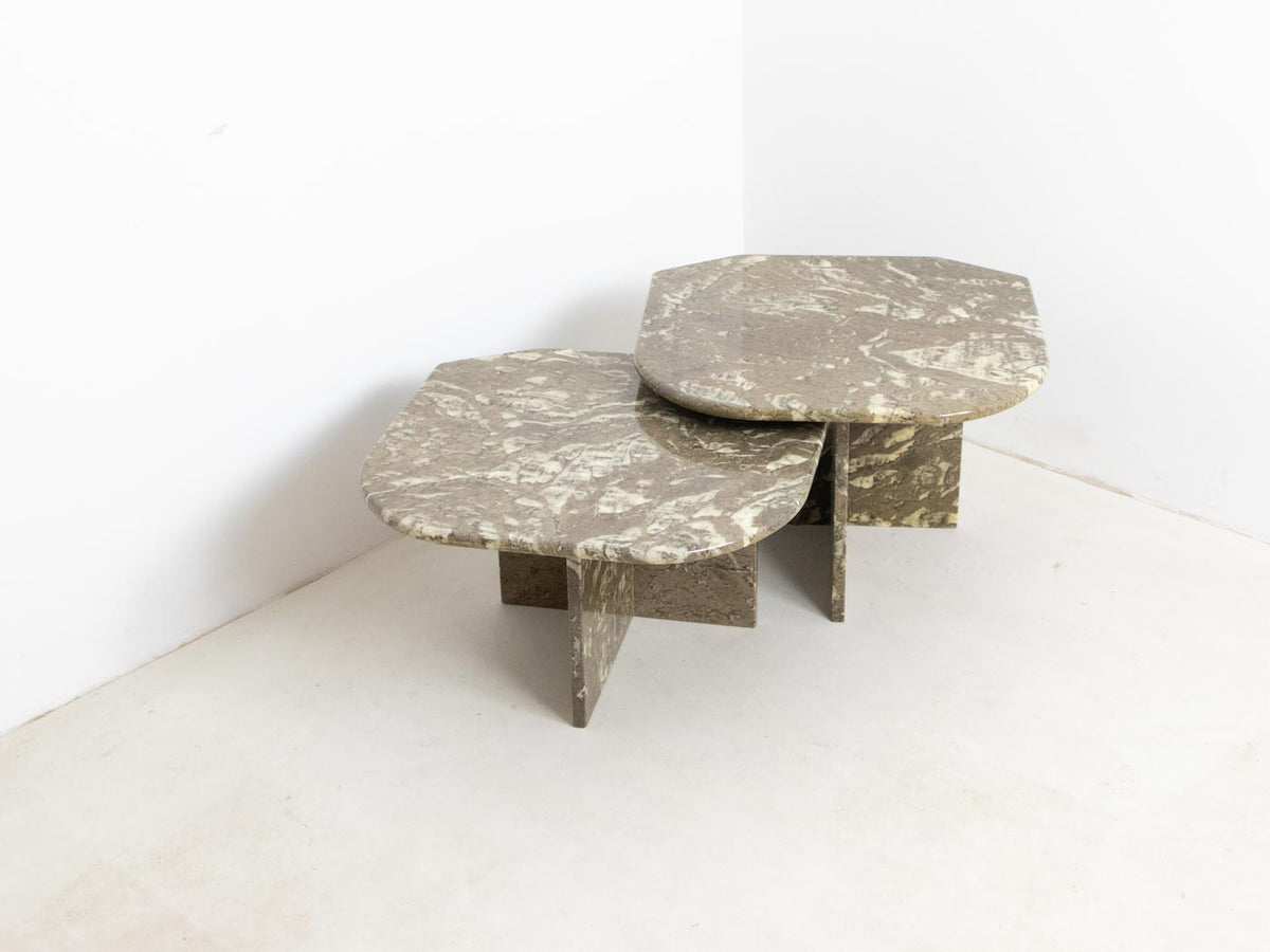 Italian marble coffee tables