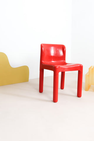 red 4875 Kartell chair by Bartoli